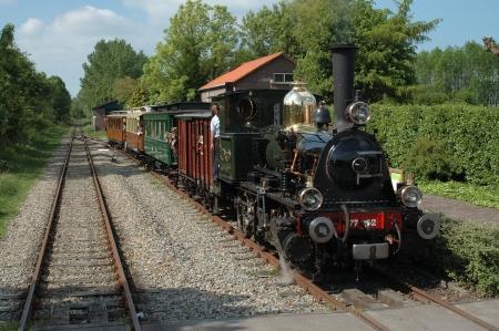 De locomotief NS 7742 'Bello' van de Museumstoomtram Hoorn-Medemblik in 2007.