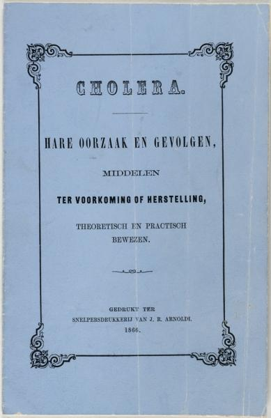 Cholera pamflet