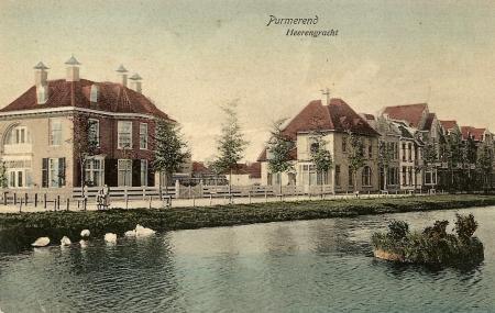 Herengracht. Links is Villa Schoonoord te zien.