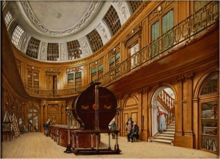 Interieur van de Ovale Zaal, door Wybrand Hendriks, ca. 1800-1820.