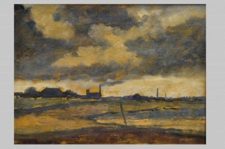 Schilderij 'Horizon' van Jan de Boer, 1960.