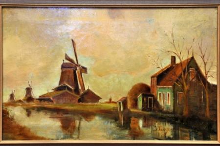 'Zicht vanaf het water op de molens De Grauwe Eend, De Krab en De Koning van Pruisen', door Jan Kruijver, ca. 1900.