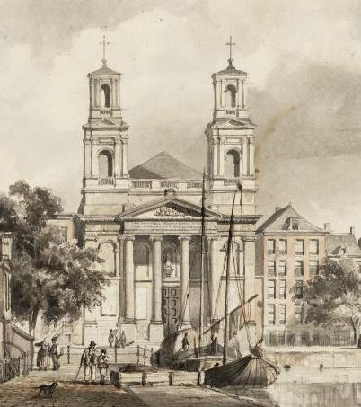 Mozes en Aäronkerk (1843) – Cornelis Springer – Stadsarchief Amsterdam