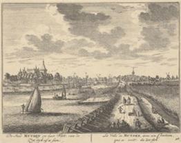 De Zeedijk met uitzicht op Muiden. Bron: Noordhollands Archief