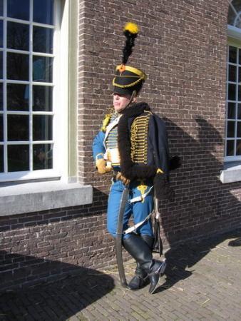 Huzaar van Boreel in het tenue uit 1815