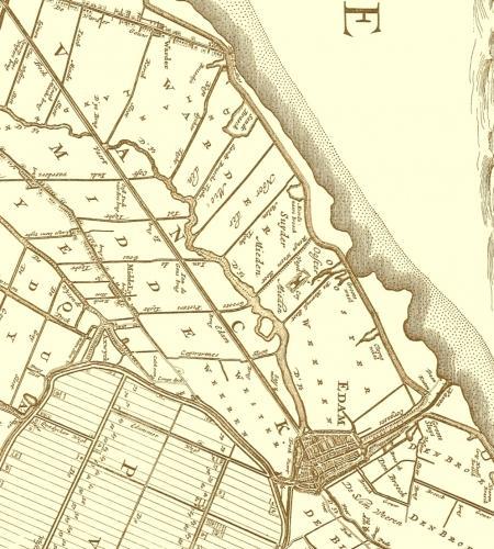 De Zeevang benoorden Edam in 1680.