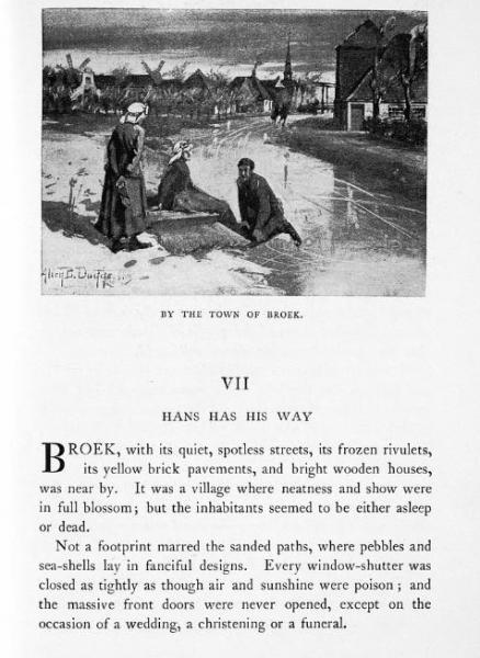 Begin van hoofdstuk VII met beschrijving van Broek in Waterland.
