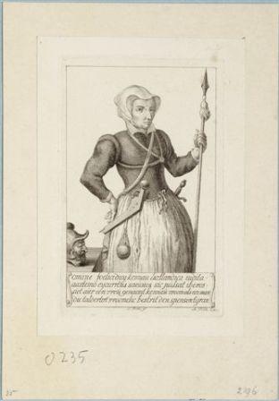 Kenau Simonsdochter Hasselaer, gravure S. Fokke.