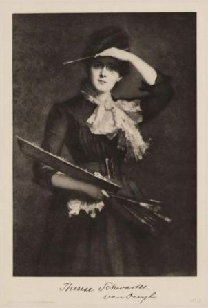 Thérèse van Duyl-Schwartze, heliogravure naar zelfportret, ca. 1910
