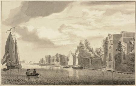 'Hofsteede Spaarenhout' omstreeks 1770.