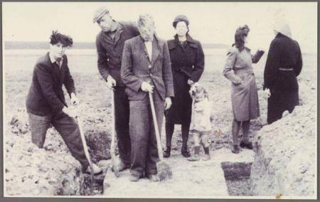 Opgraving van de fundamenten van Nuwendoorn.
