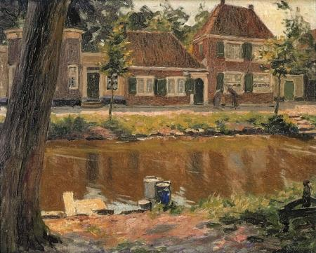 H.J. Wolter, 'Langs de vaart, Enkhuizen' (1917).