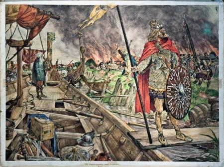 'De Noormannen voor Dorestad'.