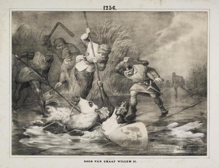 De Friezen doden Willem II bij Hoogwoud
