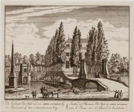 Banpaal bij hofstede Elsrijk te Amstelveen, één van de banpalen die vanaf 1544 het Amsterdamse rechtsgebied afbakenden.
