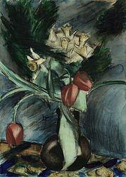Henri le Fauconnier, Bloemen in een vaas.