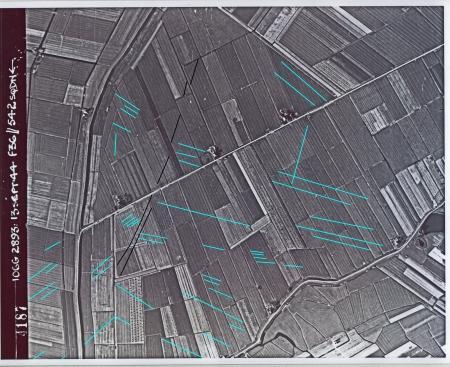 Luchtfoto van de Burghorn uit 1944.