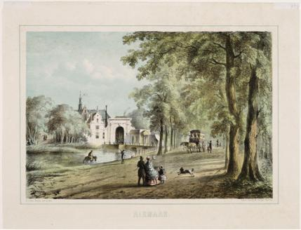 De Kennemerpoort op een litho van B.G. ten Berge, 1862.