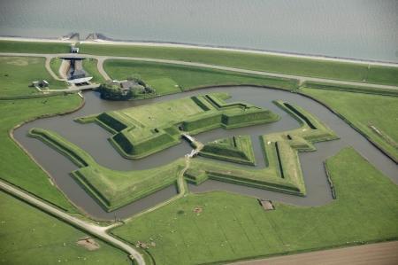 Luchtfoto fort de Schans, Texel