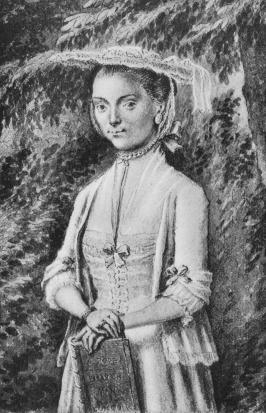 Portret van Betje op ongeveer zestienjarige leeftijd.