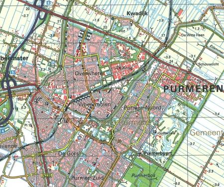 Kaart van de Overweersche Polder, 2005.