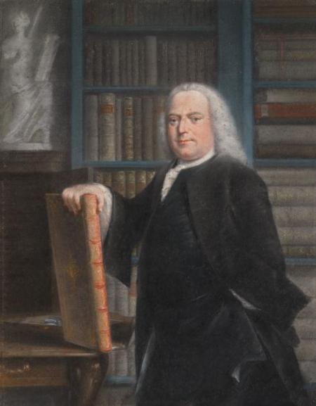 Portret van Pieter Teyler, pastel door Taco Jelgersma.