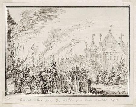 Gelderse troepen in Amsterdam, 1512.