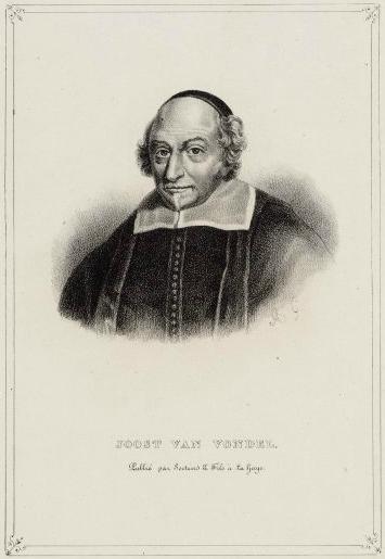 Portret van Joost van den Vondel.