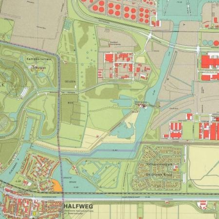 Kaart van het Geuzenbos.