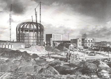 Het reactorcentrum in Petten in aanbouw, 1958.