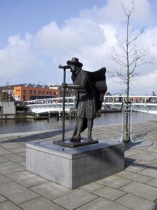 Standbeeld van Adriaen Anthonisz, 2010.