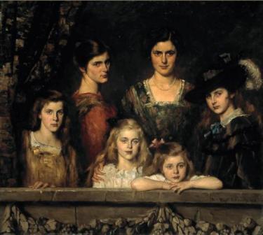 De zes dochters Biossevain, Thérèse Schwartze, 1916