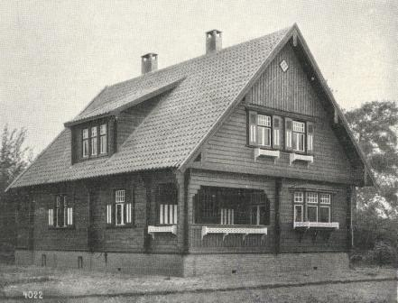 Het blokhuis De Lutine op het landgoed De Nijenburg te Heiloo, omstreeks 1925.