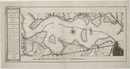 Het westelijke deel van het IJ met het eiland Ruigoord, 1783.