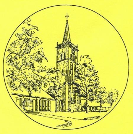 De toren van de voormalige St. Martinuskerk van Nieuwe Niedorp naast de moderne Fenix-kerk.