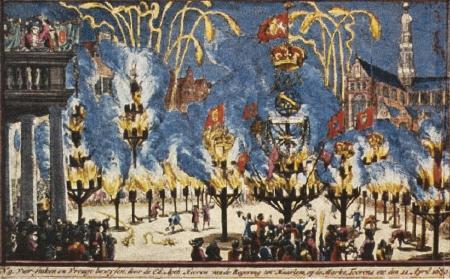 Uitsnede van het vuursteken te Haarlem