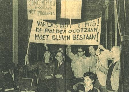 Statenvergadering 21 juni 1978: actievoerders uit Oostzaan op de publieke tribune.