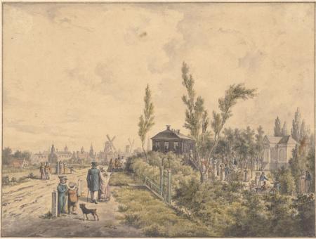 Wandelaars op de Spaarndammerdijk, 1826.