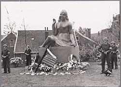 Het Verzetsplantsoen te Zaandam, 1950.