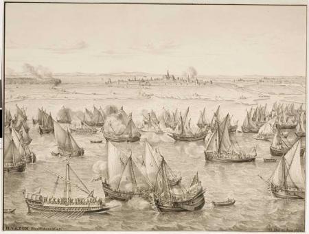 Slag op de Haarlemmermeer.
