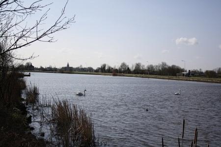 Amstel stroomt door polderland