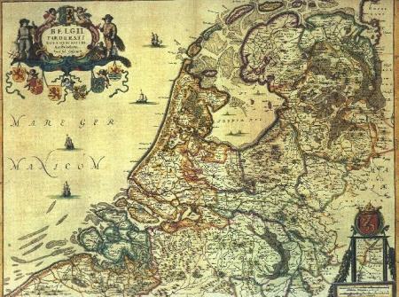 Nederlandse gewesten, ca. 1556.