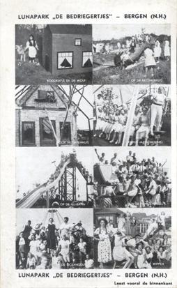 Folder van 'lunapark' De Bedriegertjes, laat jaren dertig.