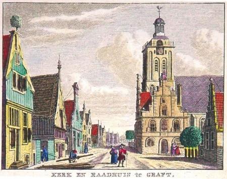 Regionaal Archief Alkmaar, Reproductie van een gravure, anoniem. 1979 naar een 18e eeuws origineel