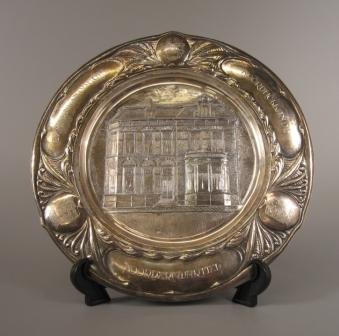 Het zilveren bord voor dijkgraaf Wijdenes Spaans