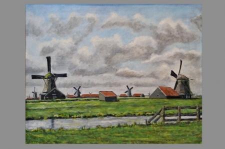 Het molenpanorama door Klaas Landsman, 1974.