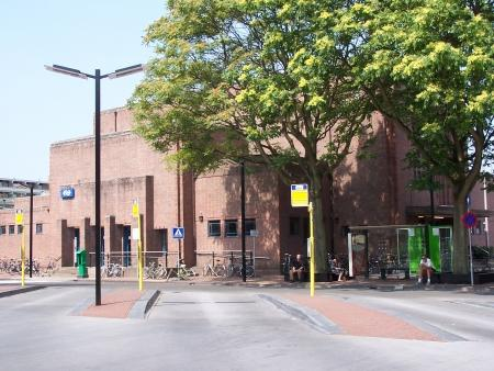 Het station in Bussum.