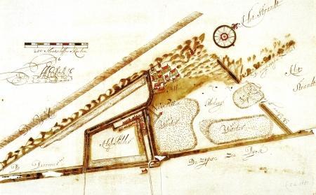 Petten eind zeventiende eeuw (noorden rechts).
