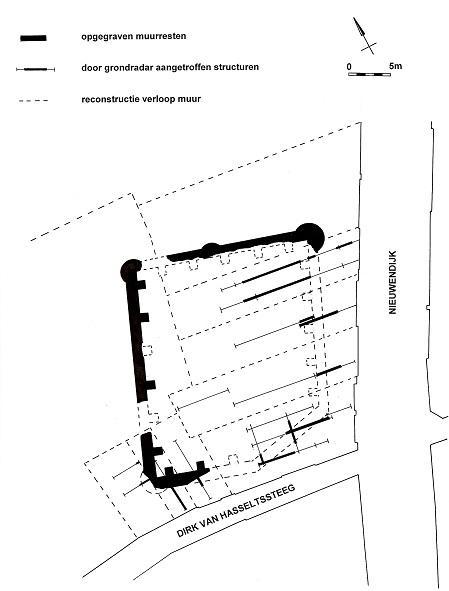 Plattegrond van het opgravingsgebied.