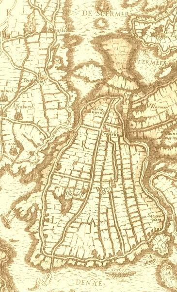 Assendelft, Krommenie en Westzaan in 1575.